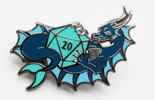 Pins: Dice Dragons Pin: Water (Blue)