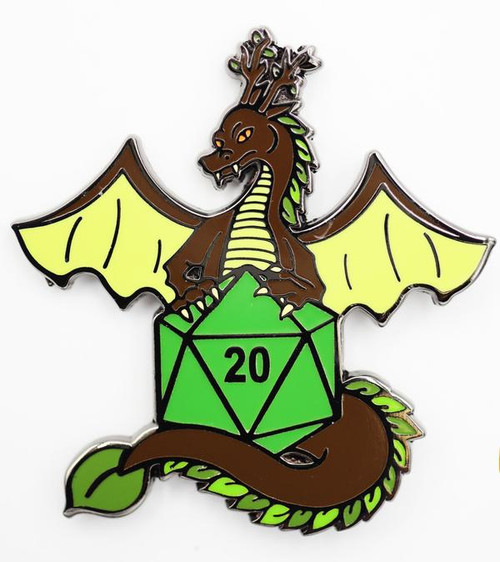 Pins: Dice Dragons Pin: Earth (Green)