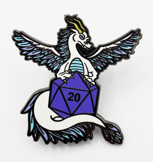 Pins: Dice Dragons Pin: Air (White)
