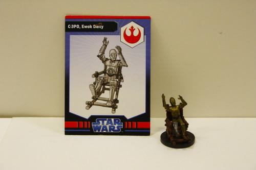 WotC Star Wars Miniatures C-3PO, Ewok Deity [U-B9S3 274107]
