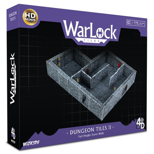 Terrain/Scenery: Warlock Tiles: Dungeon Tiles II - Full Height Stone Walls