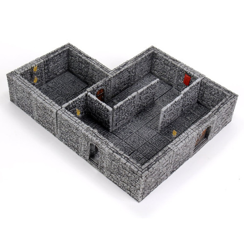Terrain/Scenery: Warlock Tiles: Dungeon Tiles II - Full Height Stone Walls Expansion