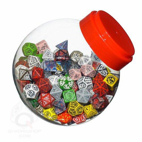 Dice and Gaming Accessories Bulk Dice: Jar of Dice Plastic D4/6/8/10/20/100 (150)