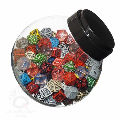 Dice and Gaming Accessories Bulk Dice: Jar of Dice Plastic D6/D10/D20 (150)