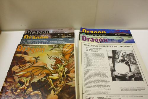 Vintage Dragon Magazine Lot (8) OOP Lot [U-B4S3 276577]
