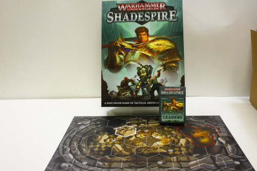 Warhammer Shadespire Lot - Shadespires, Leaders Cards, Forbidden Chambers Board [U-B4S3 275848]