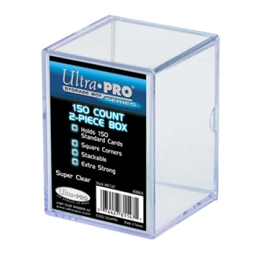 Card Boxes: 2-Piece 150 Count Clear Card Box