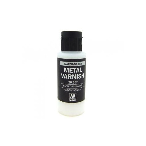 Paint: Vallejo - Auxiliaries Gloss Metal Varnish (60ml)