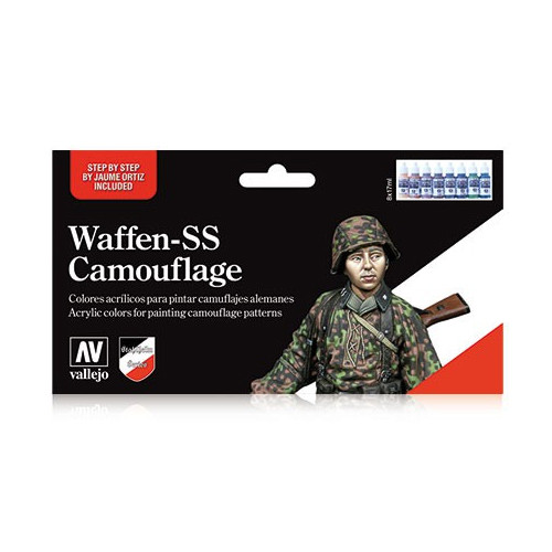 Paint: Vallejo - Paint Sets Set: Waffen-SS Camouflage Set (8)