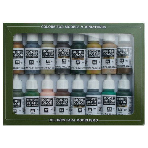 Paint: Vallejo - Paint Sets Set: 14 WWII German Camouflage