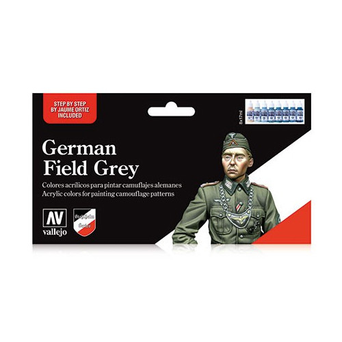 Paint: Vallejo - Paint Sets Set: German Field Grey Uniform (8)