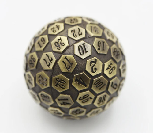 Dice and Gaming Accessories Other Gaming Accessories: 45mm Metal D100 - Bronze