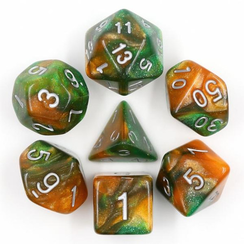 Dice and Gaming Accessories Polyhedral RPG Sets: Swirled - Emerald Vale (7)