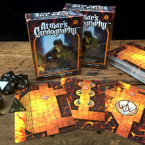 Dungeons & Dragons: DM Support - Atmar's Cardography 01 – Enter the Fiery Pits