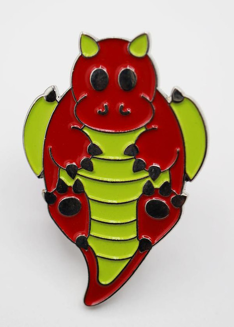 Pins: Critter Pins: Red Baby Dragon