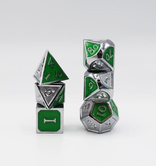 Dice and Gaming Accessories Polyhedral RPG Sets: Metal and Metallic - House Pride: Ambition - Metal (7)