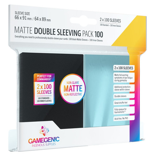 (Preorder) Card Sleeves: Matte Double Sleeving Pack (200)