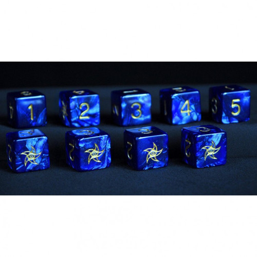 Dice and Gaming Accessories D6 Sets: Swirled - Elder Dice d6 Set - Astral Star Sign (9)