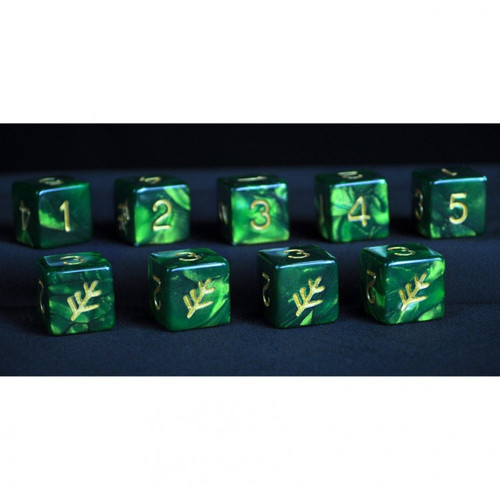 Dice and Gaming Accessories D6 Sets: Swirled - Elder Dice d6 Set - Lovecraft Elder (9)