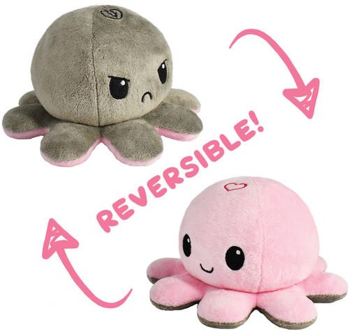 Stuffed Toys: Reversible Octopus Mini Plush: Heart/Broken Heart