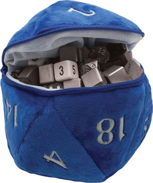 Dice and Gaming Accessories Dice Bags: D20 Plush Dice Bag - Blue