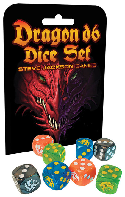 Dice and Gaming Accessories D6 Sets: Multicolored - Dragon D6 Dice Set