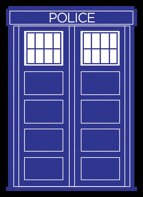 Police Box Black Border Sleeves (50)