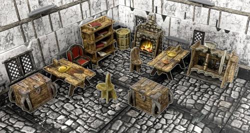 Terrain/Scenery: Battle Systems: Fantasy Village Furniture