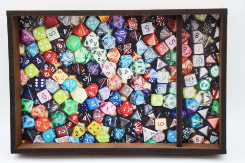 Dice and Gaming Accessories Dice Towers and Trays: Infinite Dice - Chromatic Dice Tray