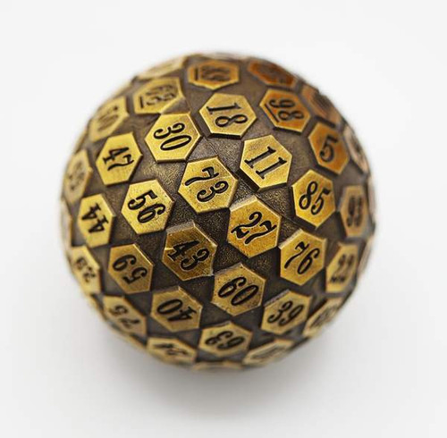 Dice and Gaming Accessories Other Gaming Accessories: 45mm Metal D100 - Gold