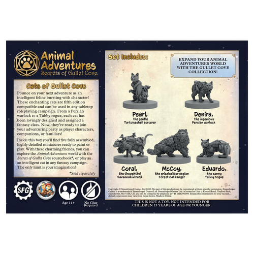 RPG Miniatures: Adventurers - Animal Adventures: Secrets Of Gullet Cove - Cats Of Gullet Cove