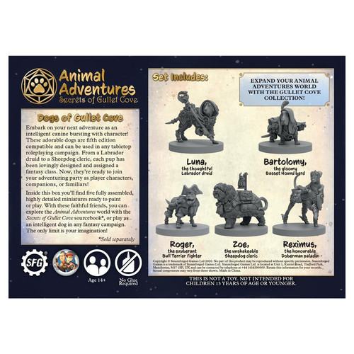 RPG Miniatures: Adventurers - Animal Adventures: Secrets Of Gullet Cove - Dogs Of Gullet Cove