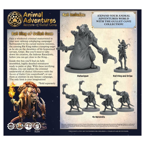 RPG Miniatures: Adventurers - Animal Adventures: Secrets Of Gullet Cove - Rat King Of Gullet Cove