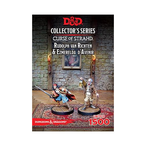 RPG Miniatures: Collector's Series: Curse of Strahd - Esmeralda D'Avenir & Rudoplh Van Richten