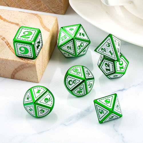 Dice and Gaming Accessories Polyhedral RPG Sets: Metal and Metallic - Patricks - Metal (7)