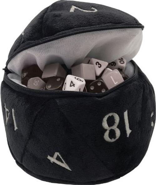 Dice and Gaming Accessories Dice Bags: D20 Plush Dice Bag - Black