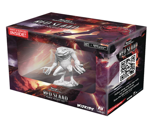 RPG Miniatures: Monsters and Enemies - D&D Nolzur's Marvelous Minis: Red Slaad Paint Night Kit