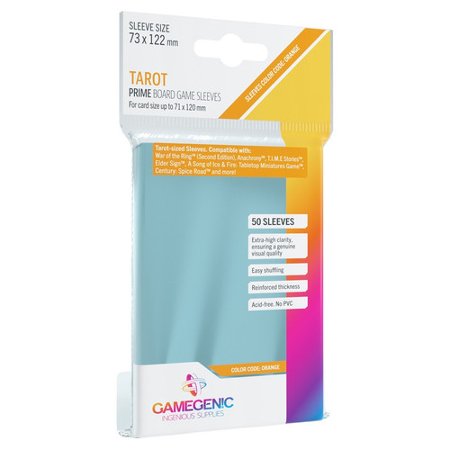 Card Sleeves: Non-Standard Sleeves - Prime Board Game Sleeves: Tarot-Sized 73mm x 122mm (50) (Orange)