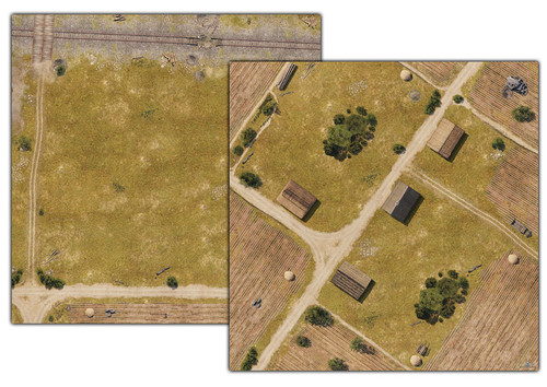 World Of Tanks: Miniatures Game - Prokhorovka Battle Mat 36in X 36in
