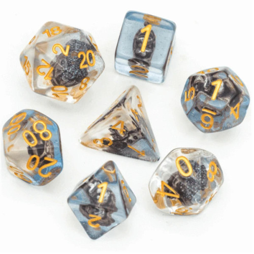 Dice and Gaming Accessories Polyhedral RPG Sets: Transparent/Translucent - Boat (7)