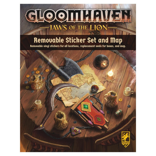 Board Games: Gloomhaven: Jaws Of The Lion Removable Sticker Set & Map