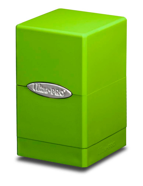 Satin Tower Deck Box - Lime Green