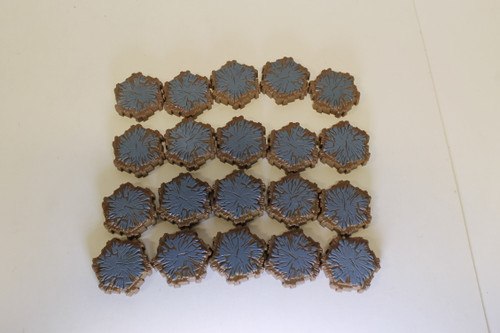 Heroscape Terrain - 20 Blue 1 Hex Tiles [U-B1S3 282785]