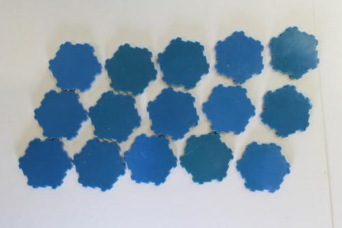 Heroscape Terrain - 15 Water 1 Hex Tiles [U-B3S3 282794]