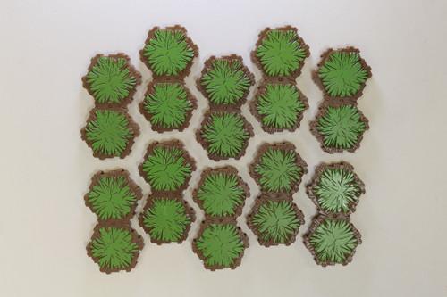 Heroscape Terrain - 10 Grass 2 Hex Tiles [U-B3S4 282793]