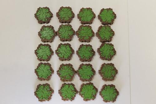 Heroscape Terrain - 20 Grass 1 Hex Tiles [U-B3S4 282797]