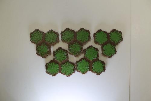 Herscape Terrain - 5 Grass 3 Hex Tiles [U-B3S4 282795]