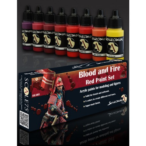 Paint: Scale75 - Blood and Fire - Red Paint Set