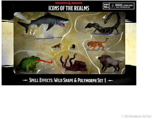 RPG Miniatures: Icons of the Realms - D&D Wild Shape & Polymorph Set 1