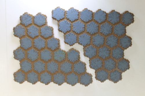 Heroscape Terrain - 2 Blue 24 Hex Tiles [U-B2S1 282826]